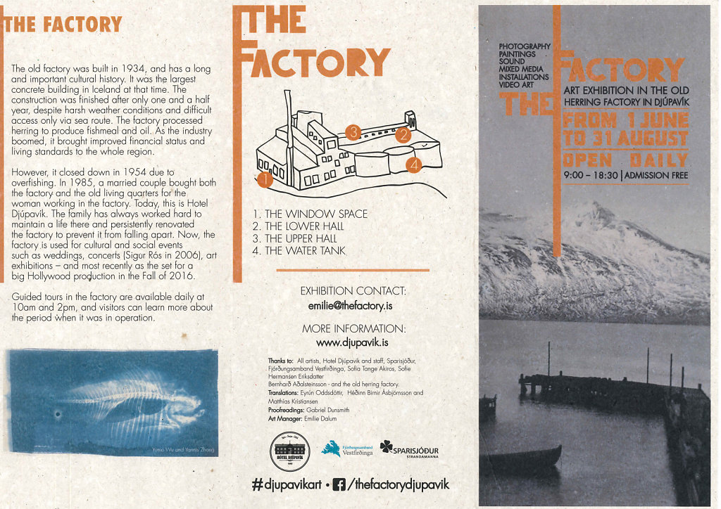 The Factory Art Exhibition 2018 / Flyer n°1 by Emilie Morkeberg Dalum